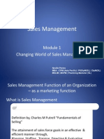 Changing World of Sales Management 1