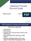 ERP Selection Process Survival Guide