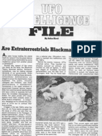 Are Extraterrestrials Blackmailing Earth? by John A. Keel