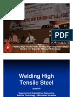 Welding High Tensile Steel