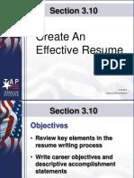 Create an Effective Resume PowerPoint
