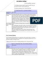 Logs & Error Handling Settings