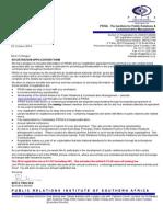 2014 Prisa Registration Form
