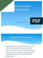 MLA & Works Cited