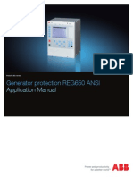 1mrk502033-Uus - En Application Manual Generator Protection Reg650 Ansi