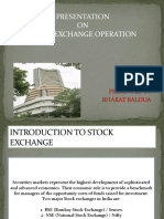 Stock Exchange Operation