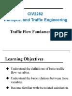 2. Traffic Flow Fundamentals (1)