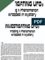 Investigating UFOs