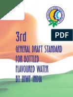 3rd General Draft Standard for Bottled Flavoured Water Ihwf Chennai