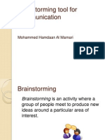 Brainstorming Tool for Communicaton