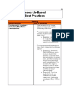 Research-Based Best Practices