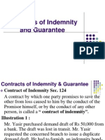 13, Contracts of Indemnity and Guarantee