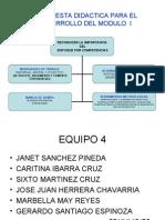 PROPUESTA DIDACTICA EQUIPO 4