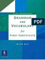 Grammar and Vocabulary for First Certificate - Luke Prodromou