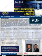 Effective Compliance in Anti-Money Laundering in Malaysia