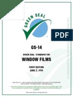 Green Seal Standard Window Films 1994