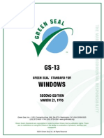 Green Seal Standard Windows 1995