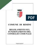 Regolamento sul funzionamento del Consiglio Comunale