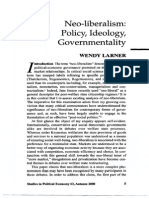 Larner Noeliberalism policy ideology governmentality.pdf