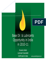 india market for lubricant and base oils 2010