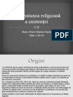 Dimensiunea religioasa a existentei-Studiu de caz