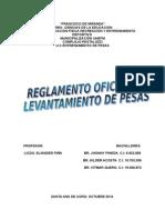 REGLAMENTO OFICIAL DE LEVANTAMIENTO DE PESAS.doc