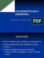 GANGGUAN MENSTRUASI II (AMENORE).ppt