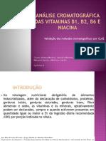 Análise cromatográfica das vitaminas B1, B2,.pptx