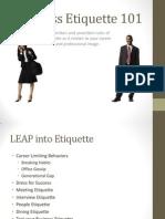 Etiquette Presentation