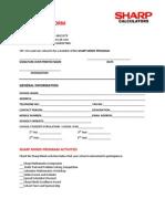 Sharp Minds Program Membership Form