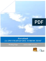 Kutxabank. LA INUTILIDAD DEL STRESS TEST