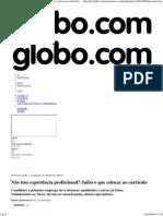 G1 - Não tem experiência profissional_ Saiba o que colocar no currículo - notícias em Concursos e Emprego.pdf
