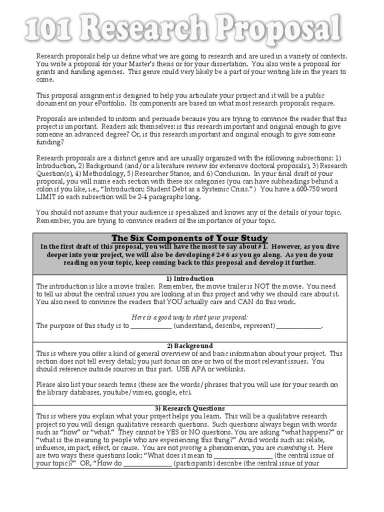 101 Research Proposal | Thesis | Epistemology