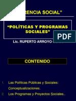 """POLÍTICAS Y PROGRAMAS SOCIALES"""".ppt"""