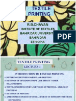1.Introduction to Textile Printing