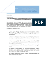 UNC Academic Scandal Investigation