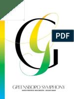 The Greensboro Symphony 2014-2015 Playbill