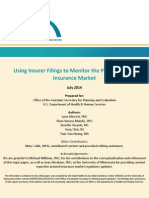 Using Insurer Filings to Monitor the Private Health Insurance Market