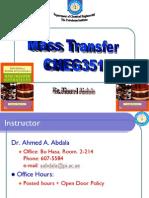 CHEG351 Spring 2008-Mass Transfer-Ahmed a Abdala