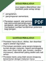 3. Sanitasi Peralatan