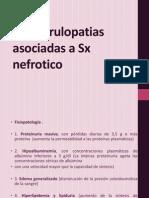 Glomerulopatia asociadas a Sx nefrotico.pptx