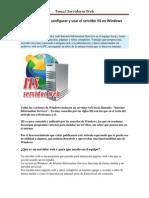 Como instalar configurar y usar el servidor IIS en Windows.pdf
