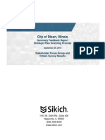 City of Dixon Summary Feedback Report Strategic Plan 2