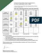 Midterm Date Sheet Fall 2014