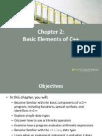 C++ Chapter 2 Slides