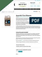 anaerobic trace elements for anaerobic digestors