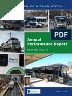 Pennsylvania Public Transportation Performance Report 2012-13