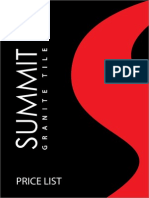 Summit Price List 2014