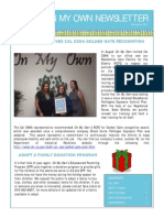 On My Own November 2014 Newsletter