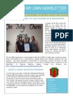 On My Own November 2014 Newsletter
